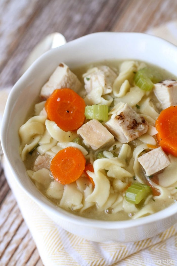 Homemade Chicken Noodle Soup Recipe Video Lil Luna