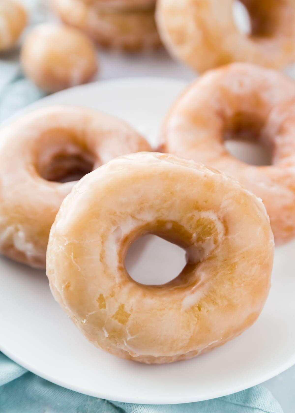 Homemade Donuts recipe on white plate
