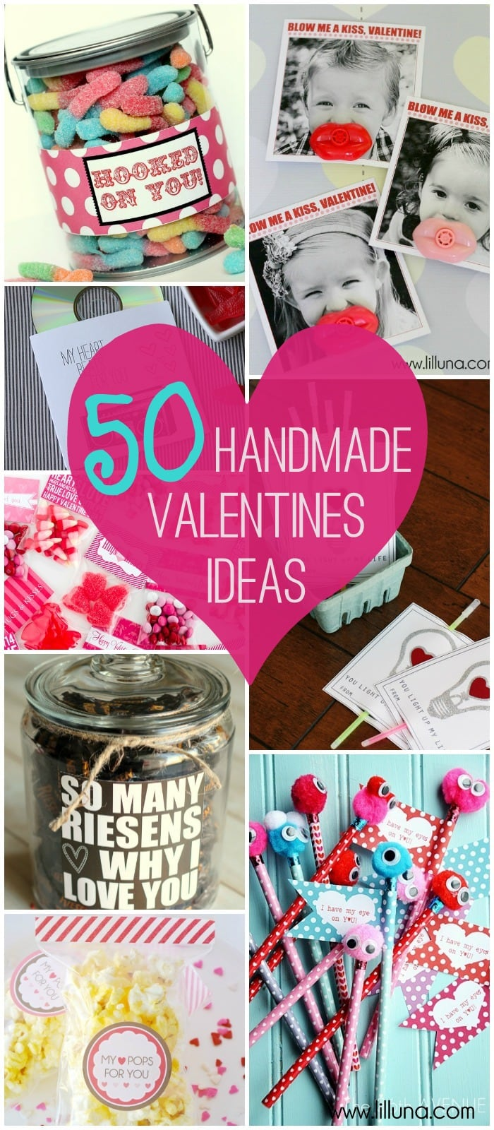 50+ Great Valentine's Ideas on { lilluna.com } Lots of cute ideas to help you make the perfect Valentine.
