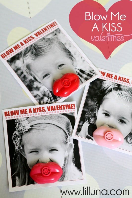 Blow Me A Kiss Valentines. LOVE these! Free prints on { lilluna.com }