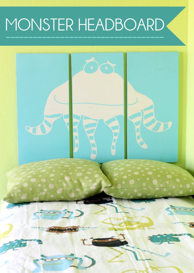 Cute and Easy Monster Headboard. LOVE this! Tutorial on { lilluna.com }