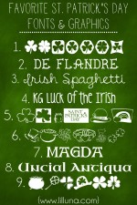 Favorite St Patricks Day Fonts and Graphics