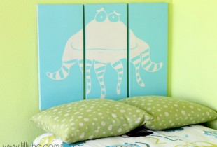 Monster Headboard on { lilluna.com }