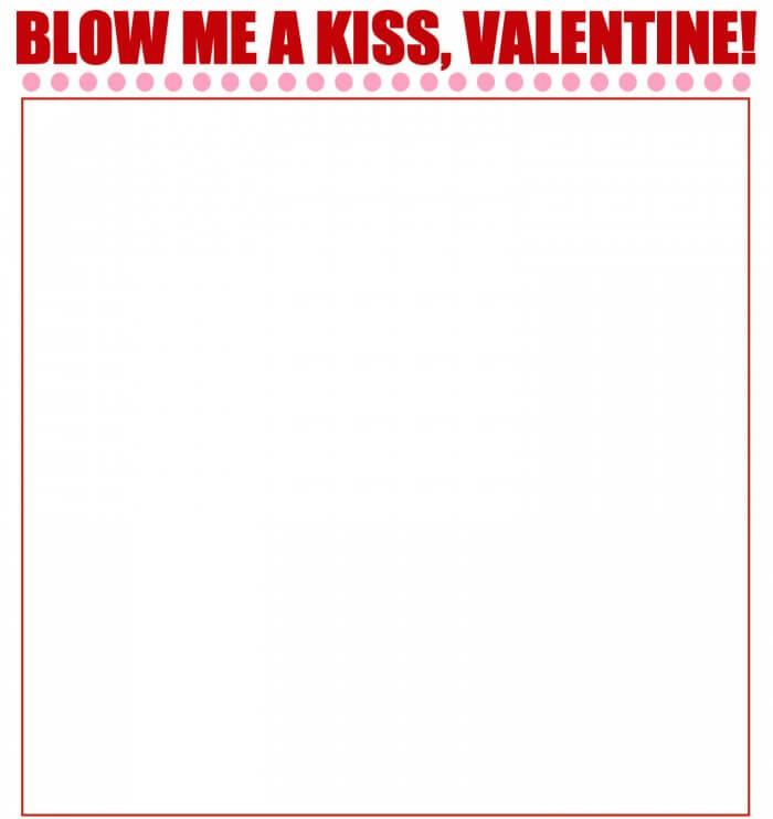 Blow Me A Kiss Valentines. LOVE these! Free prints on { lilluna.com }
