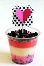 Valentines Pudding Cups. This is a cute, quick and easy dessert idea for Valentines!