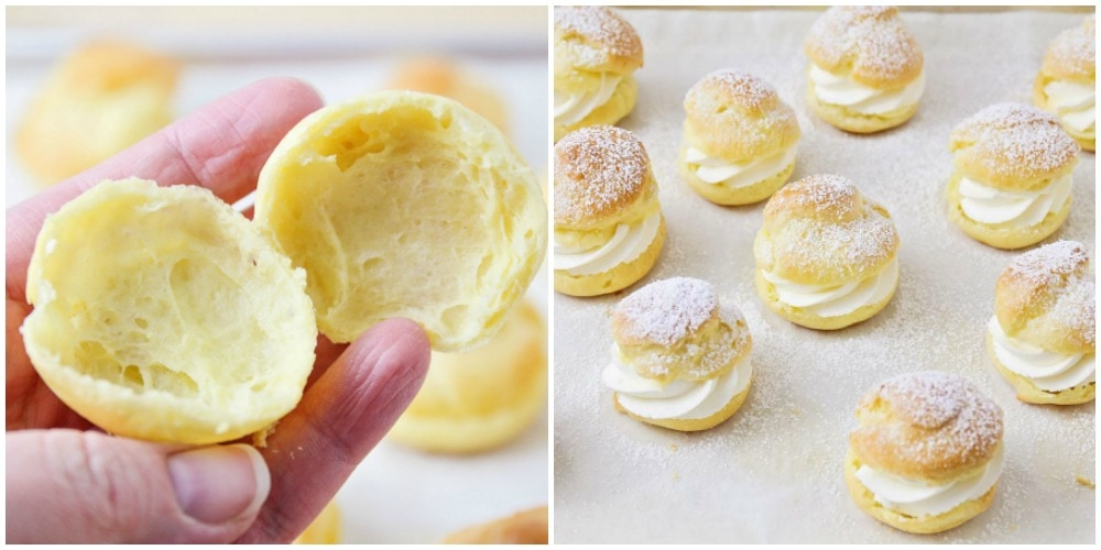 process pictures of how to make cream puffs