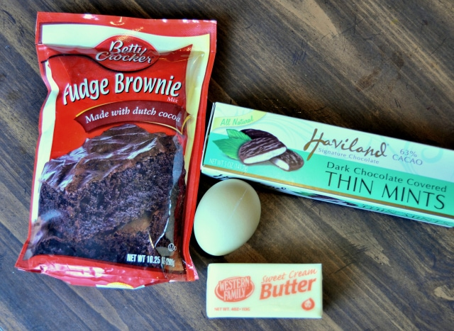 easy mint brownie ingredients