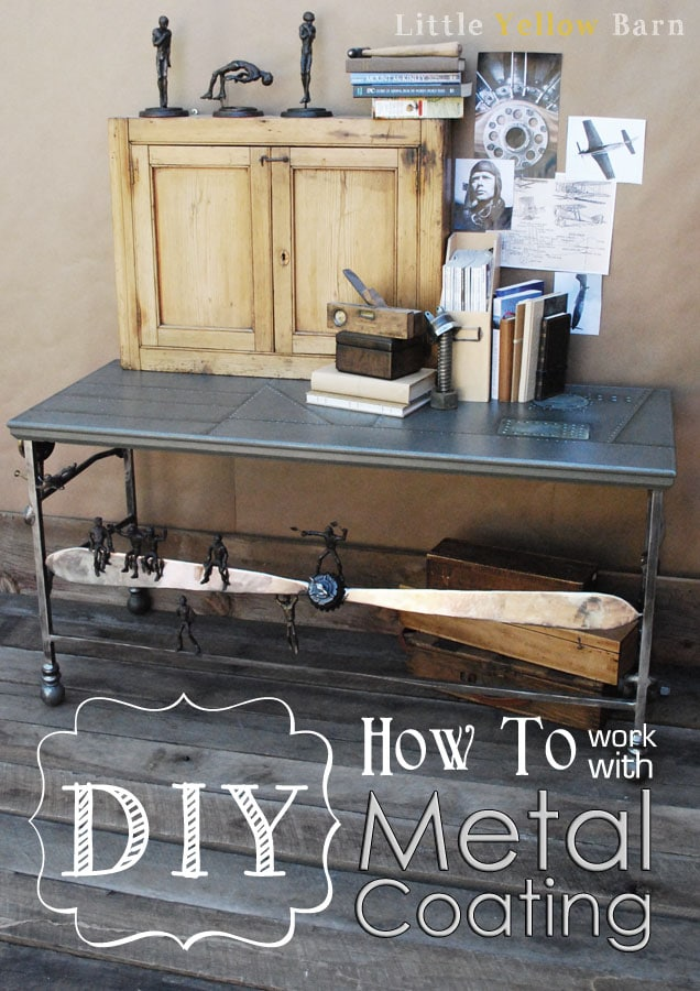DIY How To work with Metal Coating on { lilluna.com } Such a great look!!