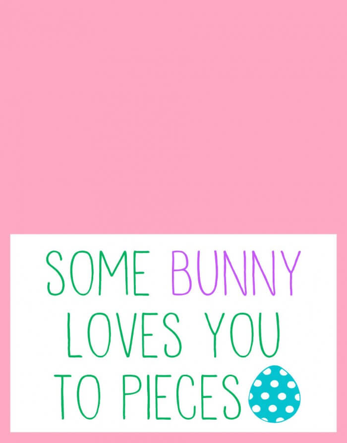 Super cute Easter party Favors - Some Bunny Loves You to Pieces! Free prints on { lilluna.com }
