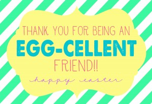 Egg-Cellent Easter Gift with Free prints for teacher, neighbor, friends, and more! { lilluna.com }