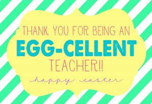 Easter - Thanks for being an egg-cellent teacher-2
