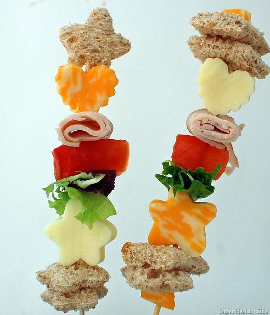 Sandwich Kabobs From Super Healthy Kids