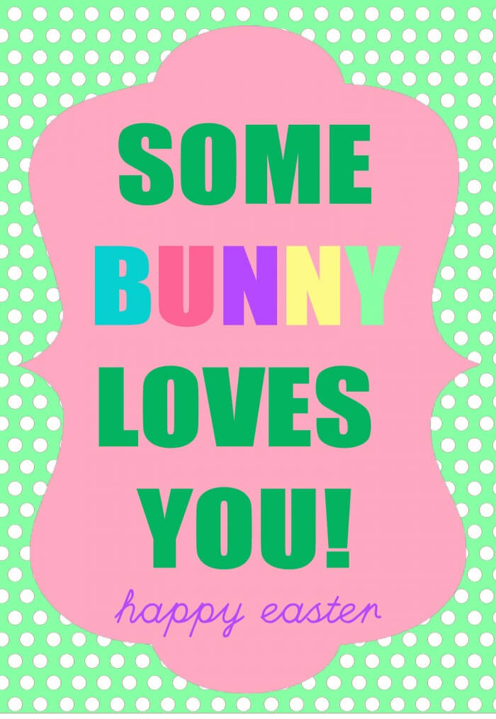 Some BUNNY Loves You Gift Idea with free prints. { lilluna.com } Cute tags for any bunny treat!