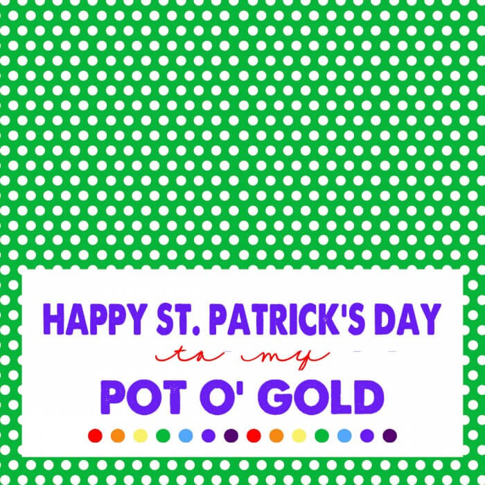 St. Patrick's Day - Pot O Gold Print