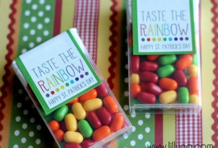 Taste the Rainbow Prints for Tic Tacs - CUTE St. Patrick's Day gift idea!
