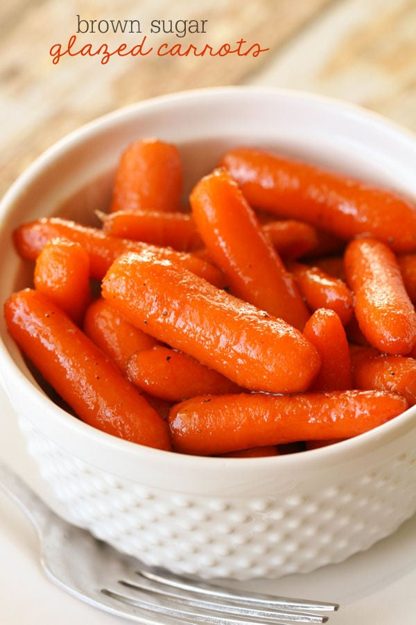 Our favorite side dish - Brown Sugar Glazed Carrots!! Takes less than 10 minutes to make!!