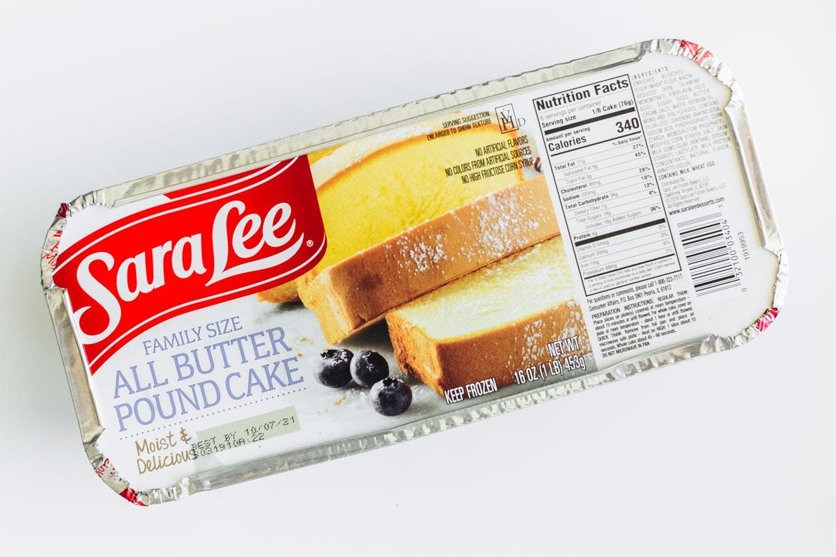 Sara Lee Pound Cake used to make french toast