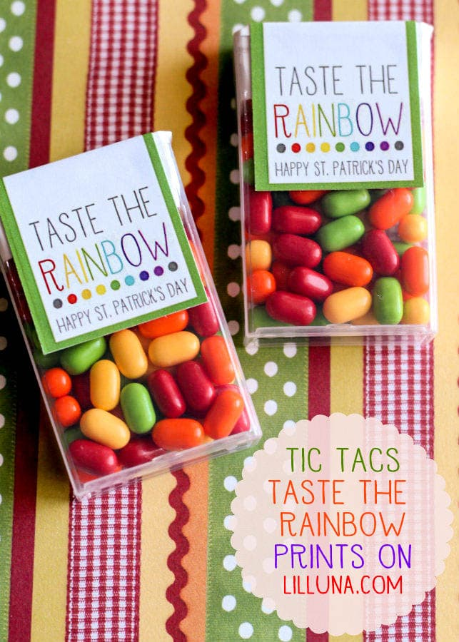 Cute and Simple Taste the Rainbow Prints for Tic Tacs. This makes such a colorful gift!
