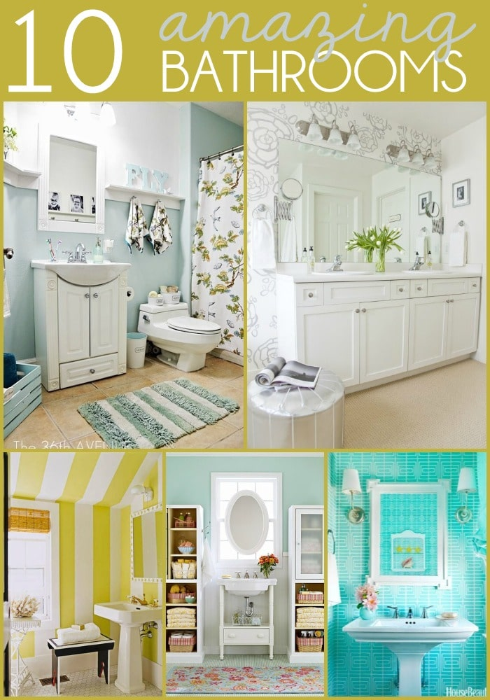10 Amazing Bathrooms on { lilluna.com } Great ideas to get the bathroom you want!