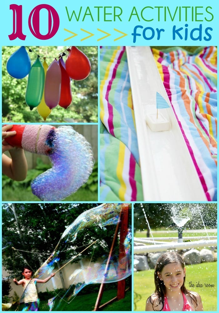 A fun round-up of 10 Water Activities for Kids. Great ideas to keep those kids cool during summer!!
