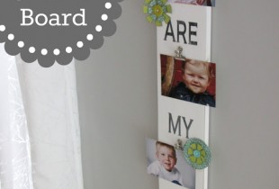 Adorable DIY Photo Board Tutorial on { lilluna.com }