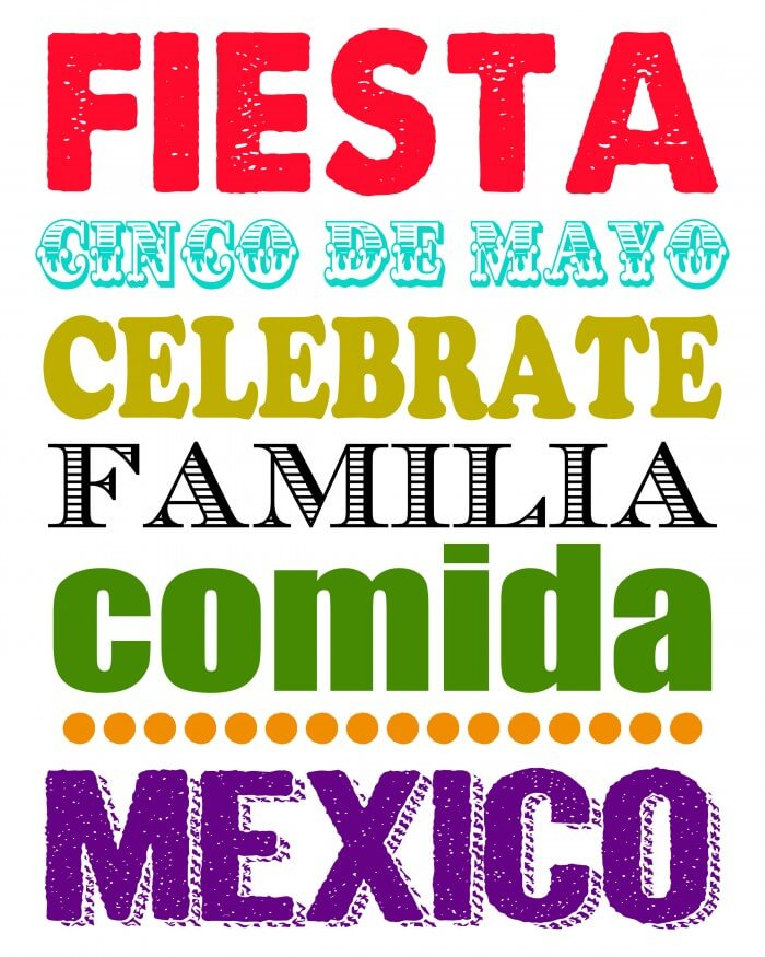 Cinco de Mayo Subway Art - free download on { lilluna.com } Great print for your Cinco de Mayo party!!