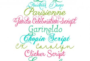 Favorite Free Script Fonts - Part 2 { lilluna