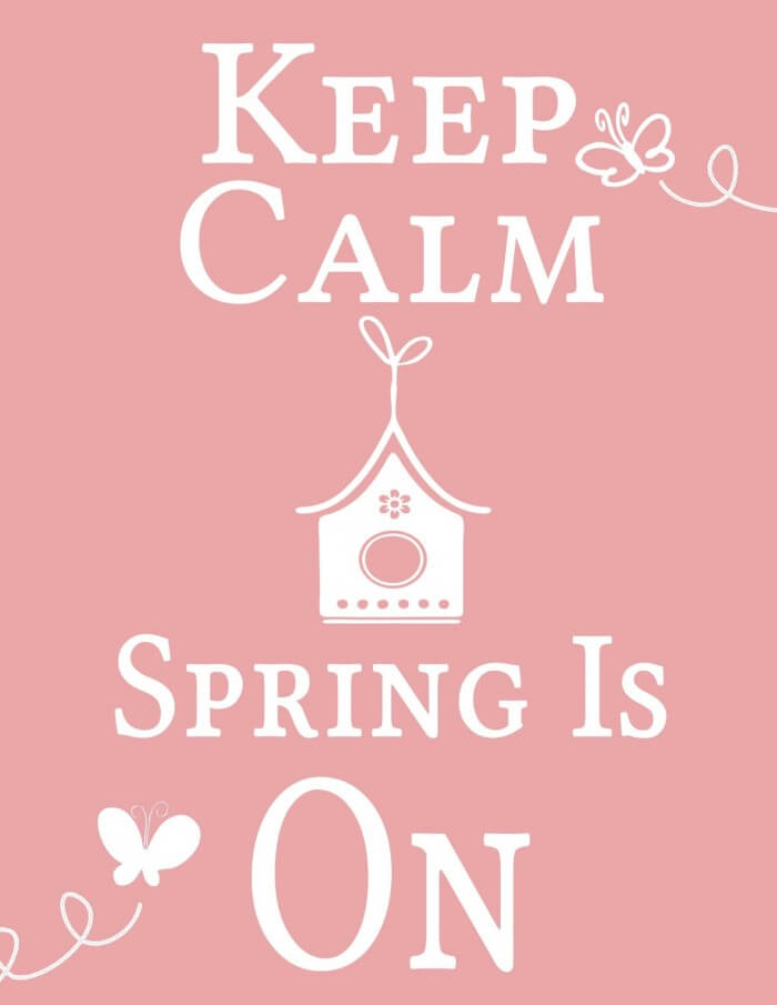 Keep Calm Spring is On