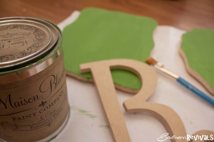 DIY Wooden Initial Plaques - LOVE these! You only need a few items to make these cute personalized plaques!!