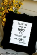 Mothers Day Quote Print