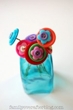Super Cute Button Flower Bouquet - perfect for Mother's Day!