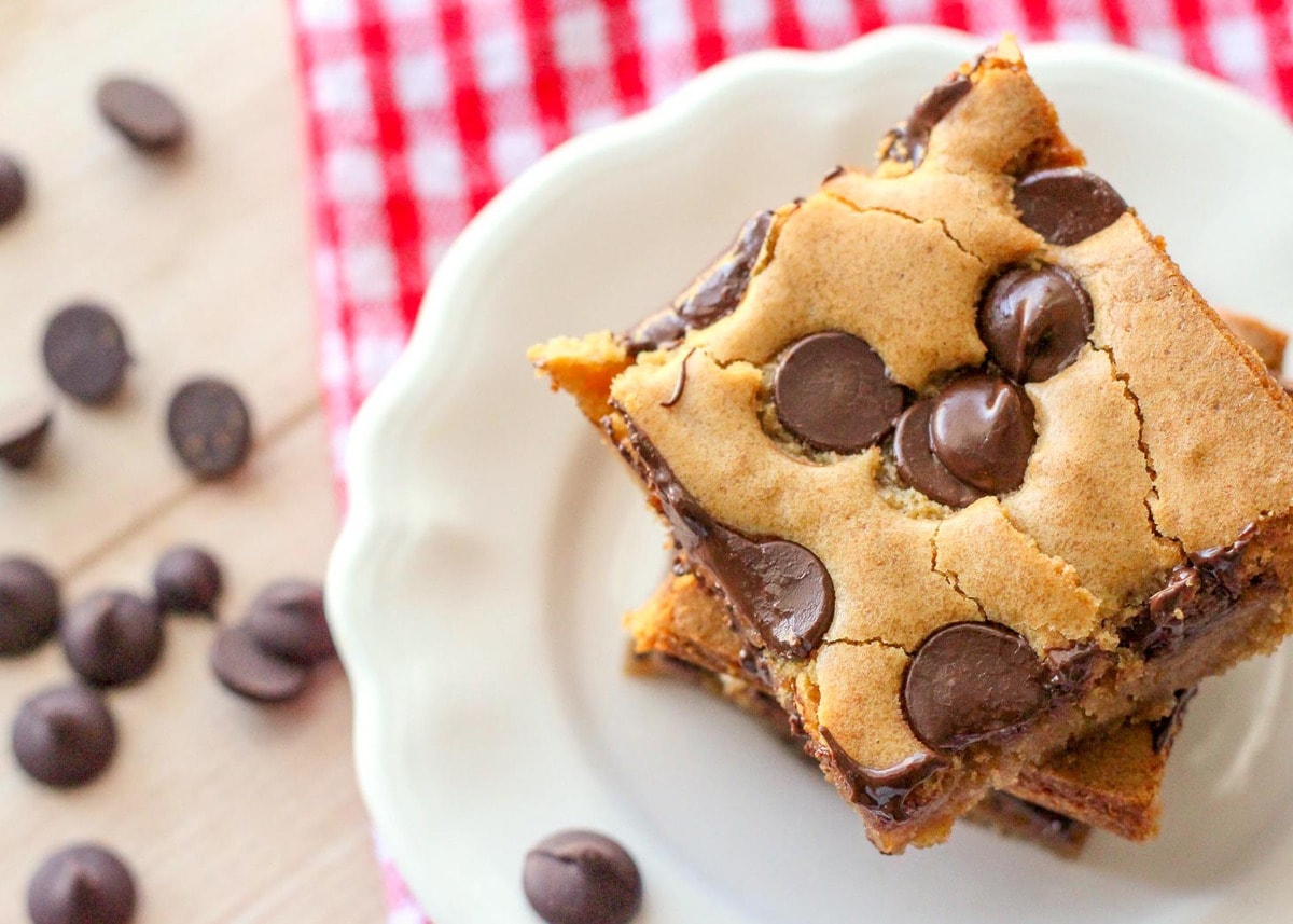Cookie Bars on Plate