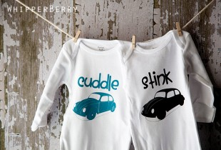 Cuddle Bug and Stink Bug Onesies