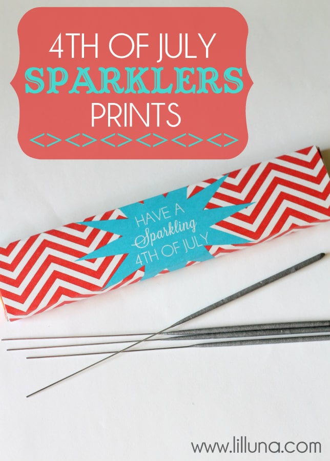 Fourth of July Sparklers Prints on { lilluna.com } Fun way to jazz up the box and great gift idea!!