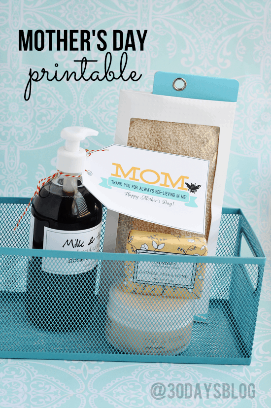 Mother's Day Printable. Let mom relax and enjoy a bubble bath with these great ideas!