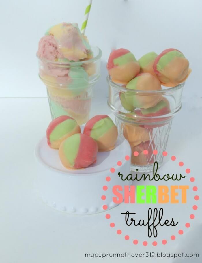 Rainbow Sherbet Truffles