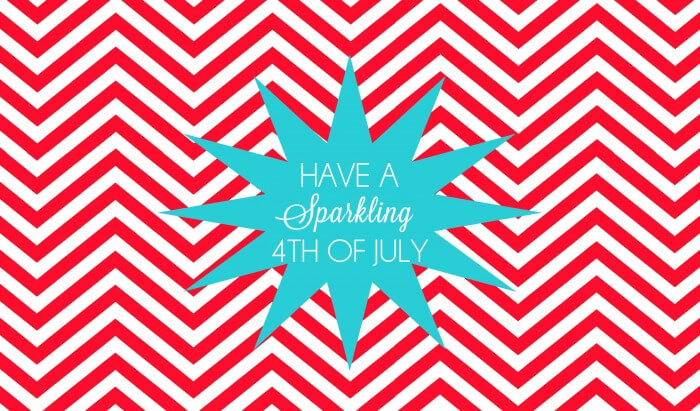 4th of July Sparklers Gift Printable