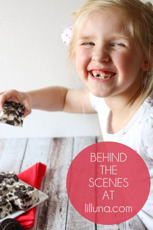 Behind the Scenes - Cookies and Cream Fudge