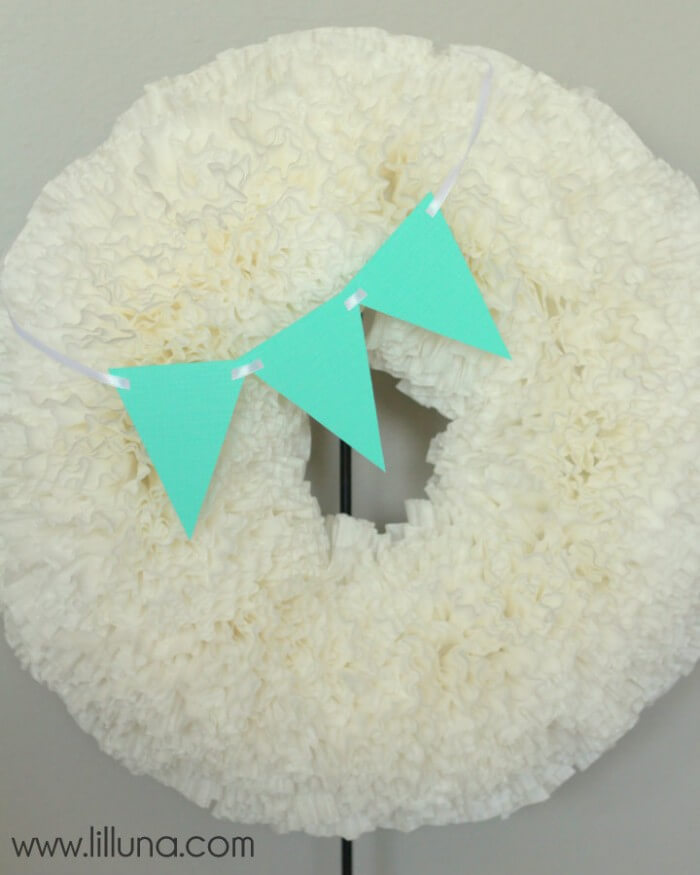 Coffee Filter Wreath Regular
