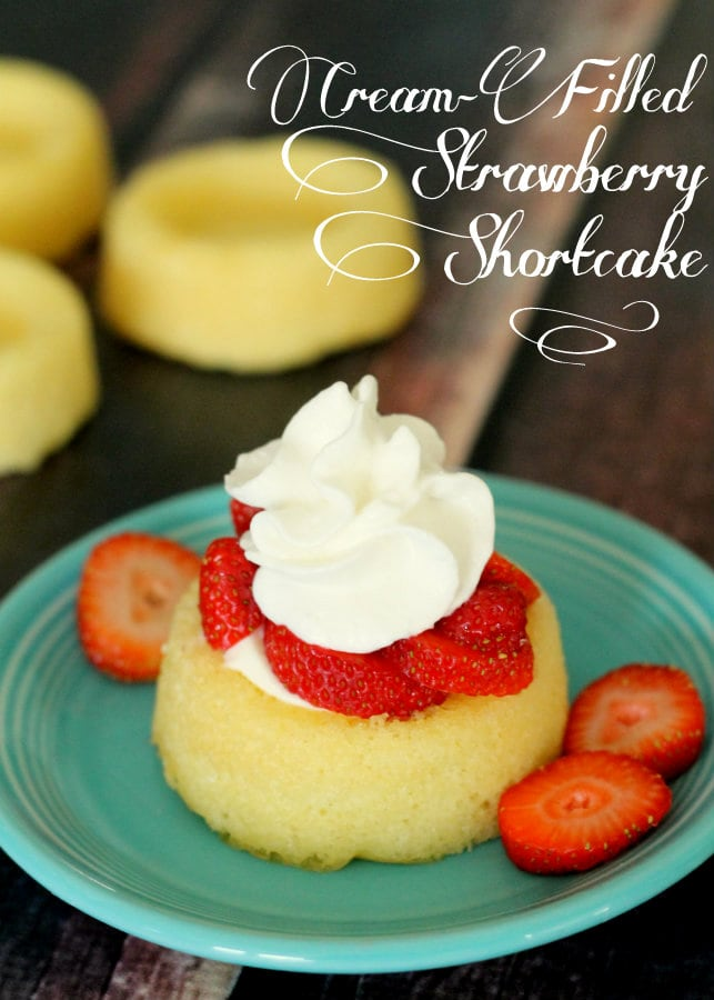 Mini Strawberry Pudding Shortcakes. These are so good and perfect to serve in the summertime! { lilluna.com }