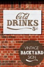 Vintage Cold Drinks Sign