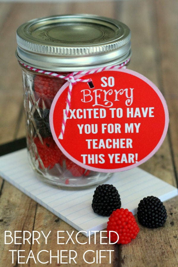 BERRY excited Teacher Gift with free prints { lilluna.com }