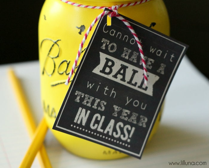 CUTE Ball Jar Gift for teacher