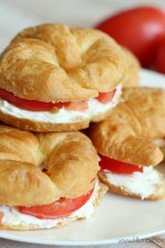 Cream Cheese Croissant Sandwiches { lilluna.com }