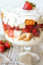Strawberries and Cream Angel Food Cake Trifle