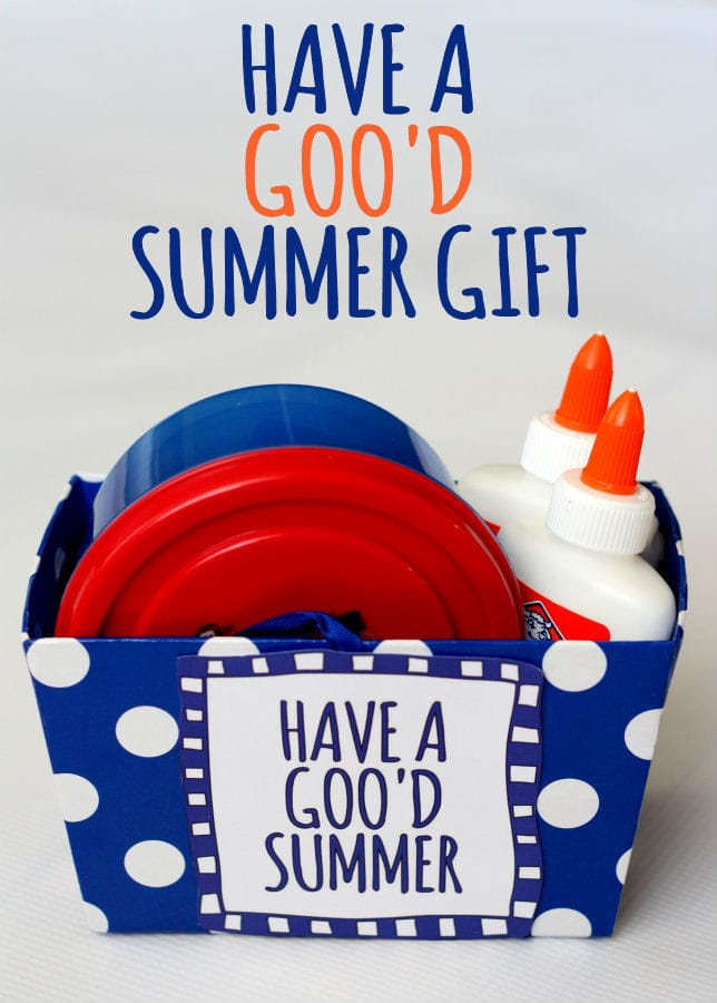 Have a GOO'D Summer Gift Idea - Fill with ingredients for homemade gak! { lilluna.com }