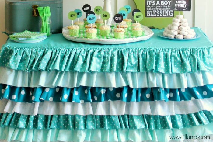 Ruffles Tablecloth - pretty!