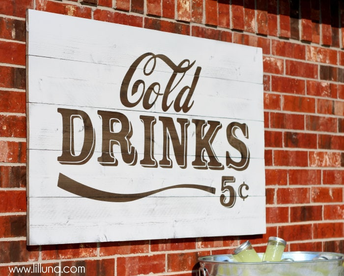 Simple Cold Drinks Sign