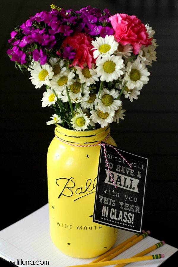 Vintage Ball Jar Teacher gift - so cute! { lilluna.com }