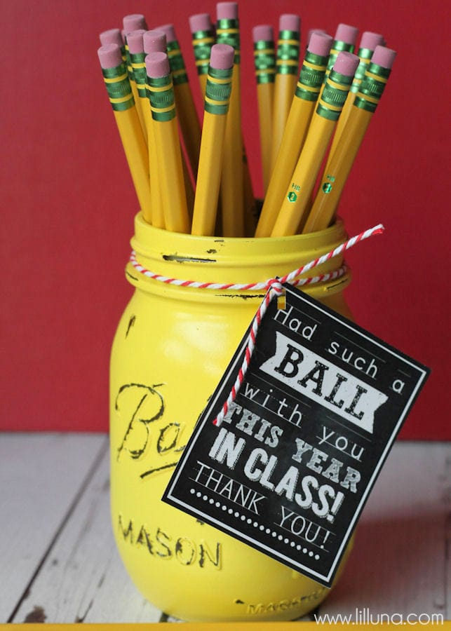 A roundup of 20+ Teacher Appreciation Gifts - lots of great crafts and FREE printables to make for the perfect gift for all those awesome teachers!! { lilluna.com }